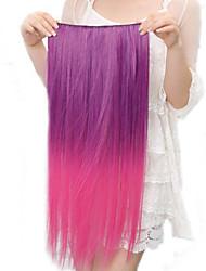 economico -Resistenza alle alte temperature Two-tone 20 pollici lungo rettilineo parrucca 5 clip di estensione 11 colori disponibili