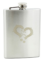 Personalized Stainless Steel 8-oz Flask - Words Corss My Heart