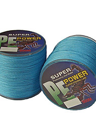 cheap -500M / 550 Yards PE Braided Line / Dyneema / Superline Fishing Line Blue 10LB / 12LB / 15LB / 18LB 0.1,0.12,0.14,0.16 mm ForSea Fishing /