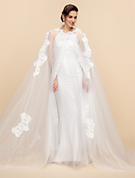 cheap -Long Sleeve Lace / Tulle Wedding / Party Evening Wedding  Wraps / Hoods & Ponchos With Capes