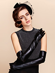 cheap -Leather Opera Length Glove Bridal Gloves Party/ Evening Gloves Winter Gloves