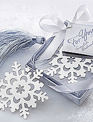 cheap -Cute Hollow Snowflake With Tassels 6.5*6.5*1 Metal Bookmarks & Clips(Silver,1pc)