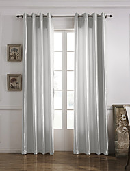 One Panel Curtain Modern , Solid Living Room Polyester Material Curtains Drapes Home Decoration For Window