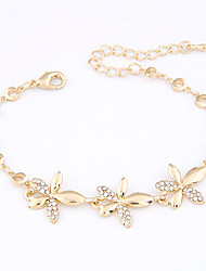 Alloy Flower Chain & Link Bracelets Christmas Gifts