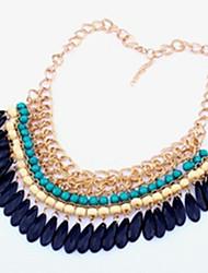 Femme Collier court /Ras-du-cou Colliers Déclaration Goutte Bijoux Acrylique Alliage Vintage Fête / Célébration bijoux de fantaisie