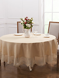 baratos -Moderna Poliéster Redonda Toalhas de Mesa Sólido Decorações de mesa