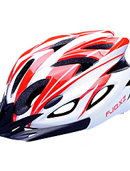 cheap -FJQXZ EPS+PC Red and White Integrally-molded Cycling Helmet(18 Vents)