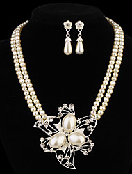 cheap -Women's Pearl Jewelry Set Earrings / Necklace - Jewelry Set For Party / Daily / Casual