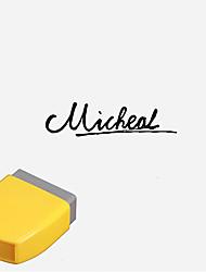 economico -13x33mm personalizzata Cursive Inglese Lettere disegno inciso Penetrazione Sigillo Stamp (entro 8 inglesi Lettere, colore casuale)