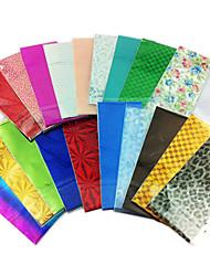 Colori 10PCS miscela Laser stagnola del chiodo Decorazioni Starry Nail Stickers (colore casuale)