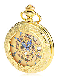 cheap -Men's Mechanical Watch / Pocket Watch Japanese Hollow Engraving Alloy Band Luxury / Vintage Gold