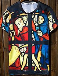 billige -Herre-Multi Farve Person Chic & Moderne T-shirt