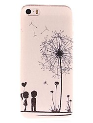 Dandelion e amantes Padrão Hard Case para iPhone 5/5S PC