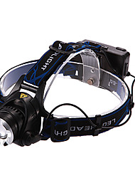 cheap -Headlamps LED 900/1600/1200/450lm 3 Mode with Batteries and Charger Rechargeable Multifunction