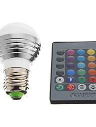 baratos -1pç 3 W 240 lm E26 / E27 Lâmpada de LED Inteligente 1 Contas LED LED de Alta Potência Controle Remoto / Decorativa RGB 85-265 V