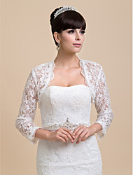 Wedding  Wraps Coats/Jackets Half-Sleeve Lace Ivory Wedding / Party/Evening Open Front