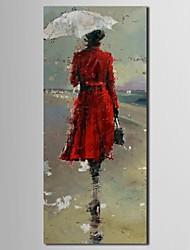 Ručno oslikana Ljudi Platno Hang oslikana uljanim bojama Početna Dekoracija Jedna ploha