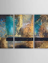 cheap -Oil Painting Hand Painted - Abstract Canvas Three Panels