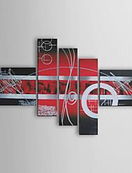 Недорогие -Ручная роспись Абстракция Любые формы холст Hang-роспись маслом Украшение дома 5 панелей