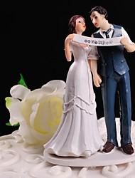 baratos -Decorações de Bolo Tema Flores Tema Clássico Casal Clássico Resina Casamento Com Caixa de Ofertas