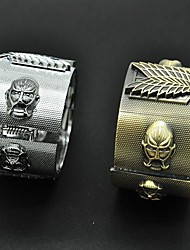 Jewelry Inspirirana Napad na Titanu Cosplay Anime Cosplay Pribor Narukvice Bijela / Zlatna Alloy Male