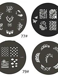 Недорогие -1 шт M серии Округлые абстрактная конструкция ногтей штамп штамповка изображения шаблона плиты NO.77-80 (ассорти шаблон)
