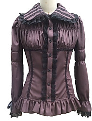 cheap -Blouse/Shirt Gothic Lolita Lolita Cosplay Lolita Dress Patchwork Poet Long Sleeve Lolita Dress For Cotton