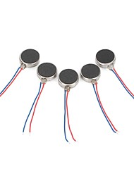 0.12A Diy 1027 Flat Vibrating Vibration Motor - Silver (5 Pcs)