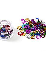 cheap -80PCS Glittle Letters Design Nail Art Decorations