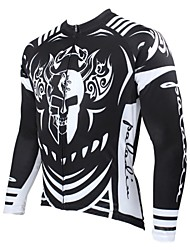 cheap -ILPALADINO Men's Long Sleeves Cycling Jersey Skull Bike Jersey, Thermal / Warm, Quick Dry, Ultraviolet Resistant, Breathable