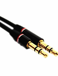 4ft 1.2m Male to Male 3.5mm Jack Stereo Audio Extension Aux Cable Universal PC