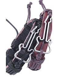 preiswerte -Herrn Damen Lederarmbänder Retro Rock Leder Aleación Gitarre Schmuck Für Alltag Normal