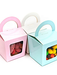 cheap -Creative Cuboid Card Paper Favor Holder with Pattern Cupcake Wrapper and Boxes - 12