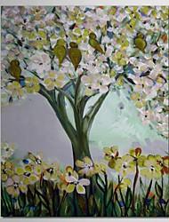 iarts®hand pintadas árvores pintura a óleo na primavera, com quadro esticado