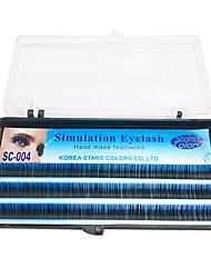 8 milímetros de fibra macia Cílios extensões de cílios falsos Handmade penas
