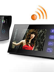Wireless 7 Zoll LCD-Touchscreen Telefon Intercom Video Tür Türklingel Hause Sicherheit Kamera Monitor