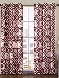 Недорогие -одна панель Аарон ржавчины печатных втулка верхней 84-дюймовый занавес
