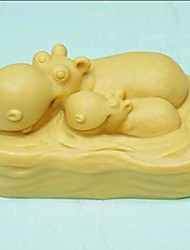 Hippo Formet Bake Mold, W8cm x L5.1cm x H3.9cm