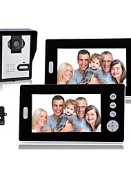 KONX® 7 Inch Wireless Video Door Phone with  Night Vision (1camera 2 monitors)