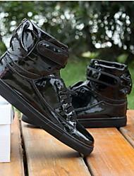 povoljno -Muškarci Hip-hop Umjetna koža Tenisice Vezanje Ravna potpetica Nemoguće personalizirati Plesne cipele Crna / Bijela