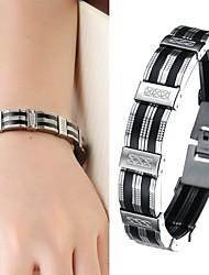 Недорогие -Теннисные браслеты Уникальный дизайн Мода бижутерия Кожа Силикон Титановая сталь Бижутерия Бижутерия Назначение Свадьба Для вечеринок