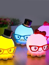 cheap -Strange New Cute Octopus Model Energy-Saving Small Night Light LED Desk Lamp
