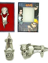 abordables -Bijoux Inspiré par Naruto Cosplay Manga Accessoires de Cosplay Bague Alliage Homme nouveau Déguisement d'Halloween