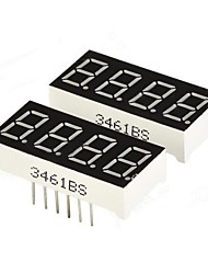 "economico -DIY 0.36 ""4-Digit digitale a 7 segmenti Display - Nero (2 PCS)"