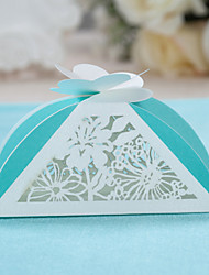 Pyramid Card Paper Favor Holder With Favor Boxes-12 Wedding Favors