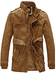 cheap -Man Wind Restoring Ancient Ways with Velvet Male Long Leather Jacket