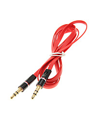 cheap -1.2M 4FT Noodle Flat Auxiliary Aux Audio Cable 3.5mm Jack Male to Male Cord