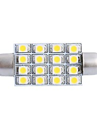 cheap -42mm 4W 200LM 3000K 16x3528 SMD Warm White LED for Car Reading/License Plate/Door Lamp (DC12V, 1Pcs)