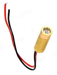 abordables -3 ~ 5mW 650nm Cobre Semiconductor Laser Dot Diodo Head Set - Golden + Rojo + Negro