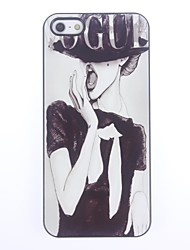 cheap -Case For iPhone 5 / Apple iPhone 5 Case Pattern Back Cover Sexy Lady Hard PC for iPhone SE / 5s / iPhone 5
